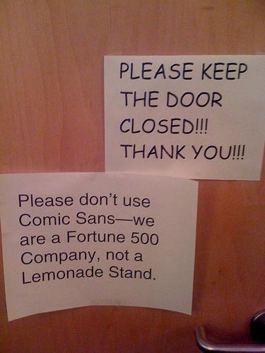 No Comic Sans please